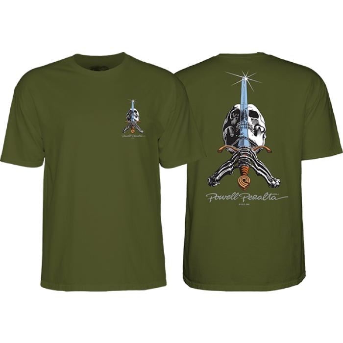 PWL/P SKULL & SWORD SS S-MILITARY GREEN