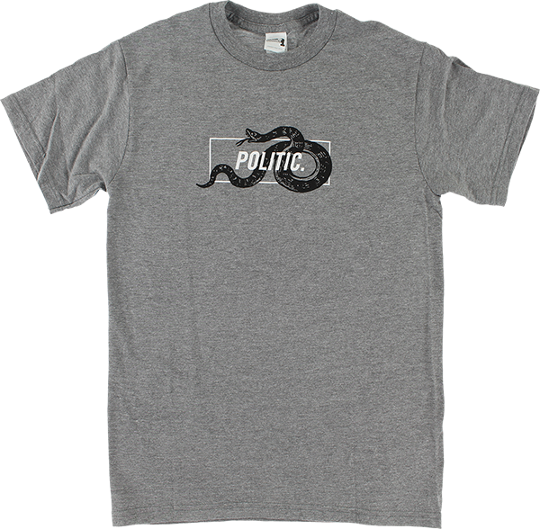 POLITIC SNAKE IN A BOX SS M-HEATHER GREY