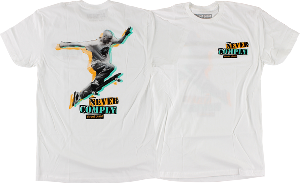 STREET PLANT NEVER COMPLY SS XS-WHITE