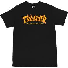THRASHER FIRE LOGO SS XL-BLACK