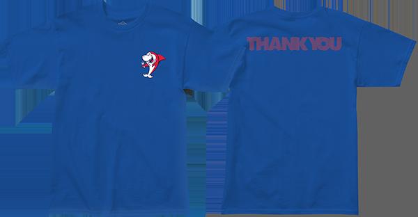THANK YOU SHARK SNACK SS XL-BLUE