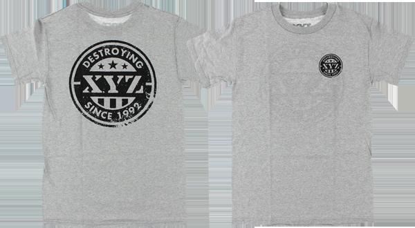 XYZ PRIDE SS M-HEATHER GREY sale