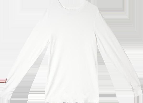 BAKER BRAND LOGO L/S THERMAL M-WHITE