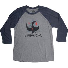 DARKROOM BIRDSTRIKE 3/4 SLV XL-CHARCOAL/NAVY