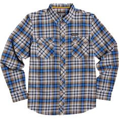 ELE HUMAN RIGHTS L/S BUTTON UP M-BLUE