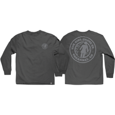 GIRL GSSC L/S S-CHARCOAL
