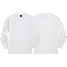 INDE BAR CROSS FADE OUT L/S M-WHITE
