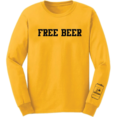 LOWCARD FREE BEER L/S M-YELLOW