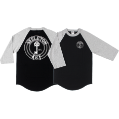 SKELETON KEY FACTORY DOT RAGLAN 3/4 SLV S-BLK/GREY