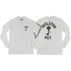 SKELETON KEY KEY LOGO L/S M-WHITE