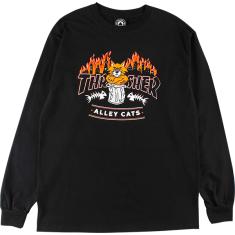 THRASHER ALLEY CATS LS L-BLACK