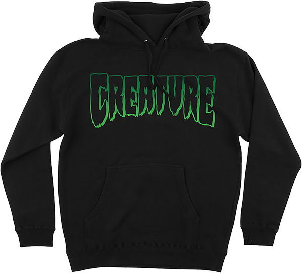 CREATURE LOGO OUTLINE HD/SWT S-BLACK