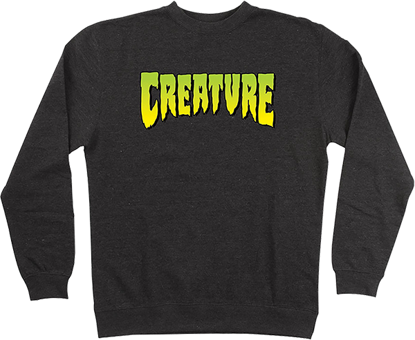 CREATURE LOGO CREW/SWT S-CHARCOAL HEATHER