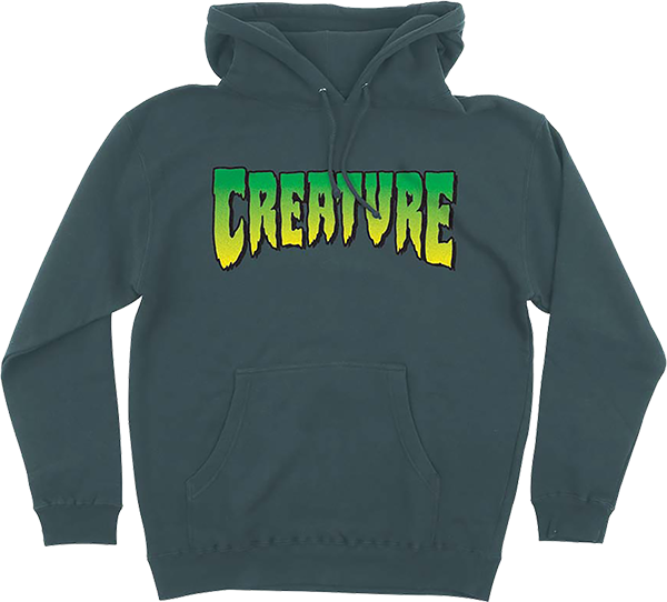 CREATURE LOGO HD/SWT S-ALPINE GREEN