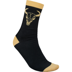 BONES WHEELS DESERT HORNS CREW SOCKS BLACK