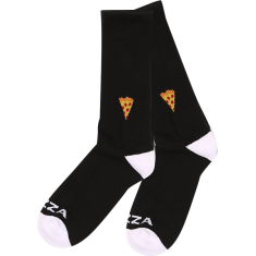 PIZZA EMOJI CREW SOCKS BLACK 1pr