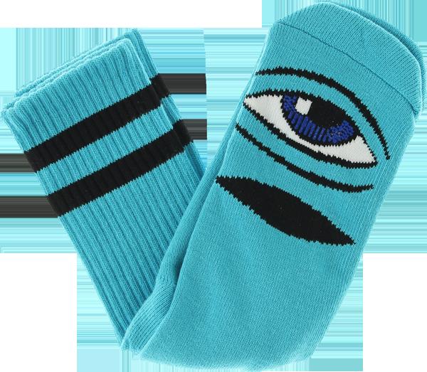 TM SECT EYE CREW SOCKS-AQUA BLUE 1 pair