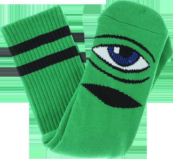 TM SECT EYE CREW SOCKS-KELLY GREEN 1 pair