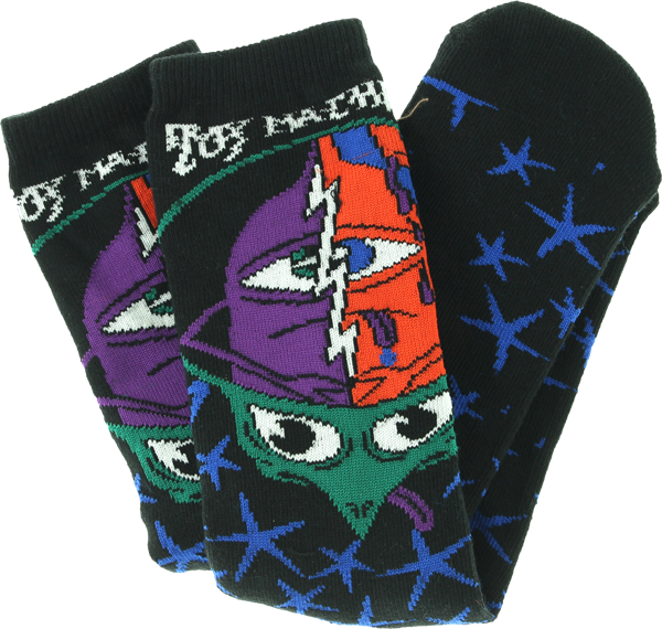 TM TURTLE HEAD CREW SOCKS-BLACK 1 pair