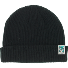 MEOW STACKED LOGO CUFF BEANIE BLACK
