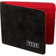 BAKER BRAND LOGO CORDUROY WALLET BLACK