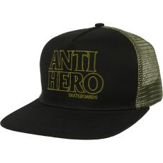 AH BLACK HERO OUTLINE MESH HAT ADJ-BLK/OLIVE