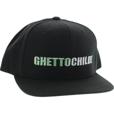 GHETTO CHILD CLASSIC USA HAT ADJ-BLACK