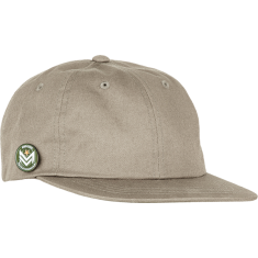 ML DAD CAP W/CHEVRON CIRCLE PIN ADJ-PALE KHAKI