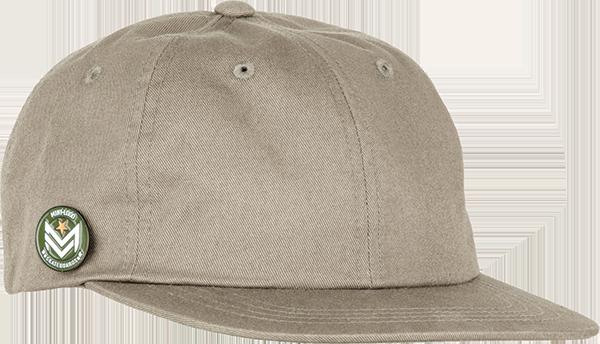 ML DAD CAP W/CHEVRON CIRCLE PIN ADJ-PALE KHAKI