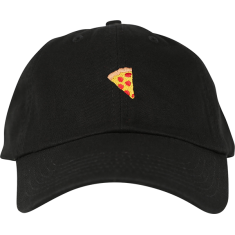 PIZZA EMOJI HAT ADJ-BLACK