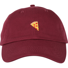 PIZZA EMOJI HAT ADJ-BURGUNDY