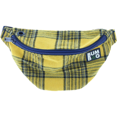 BUMBAG BASIC FLANDERS YEL/BLU PLAID