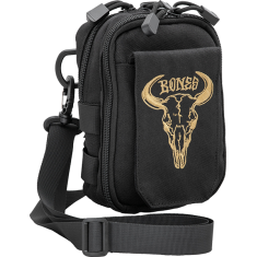 BONES WHEELS DESERT HORNS SHOULDER BAG BLACK