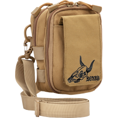 BONES WHEELS DESERT SKULL SHOULDER BAG TAN