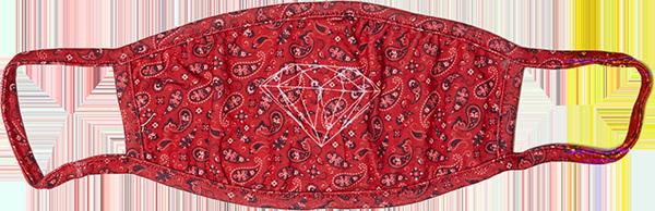 DIAMOND FACE MASK - BANDANA RED