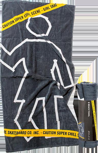 "GIRL CHILL SCENE TOWEL BLACK 30""x60"""
