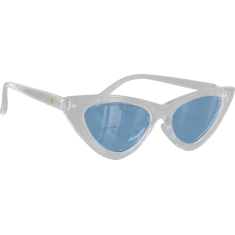 GLASSY BILLIE CLEAR/BLUE SUNGLASSES POLARIZED