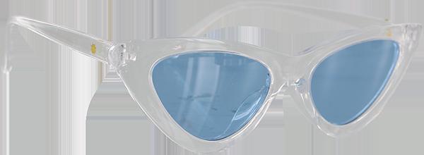 GLASSY BILLIE CLEAR/BLUE SUNGLASSES POLARIZED