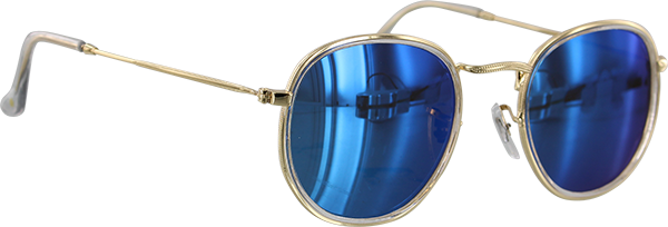 GLASSY HUDSON CLR/BLUE MIRROR SUNGLASSES POLARIZED