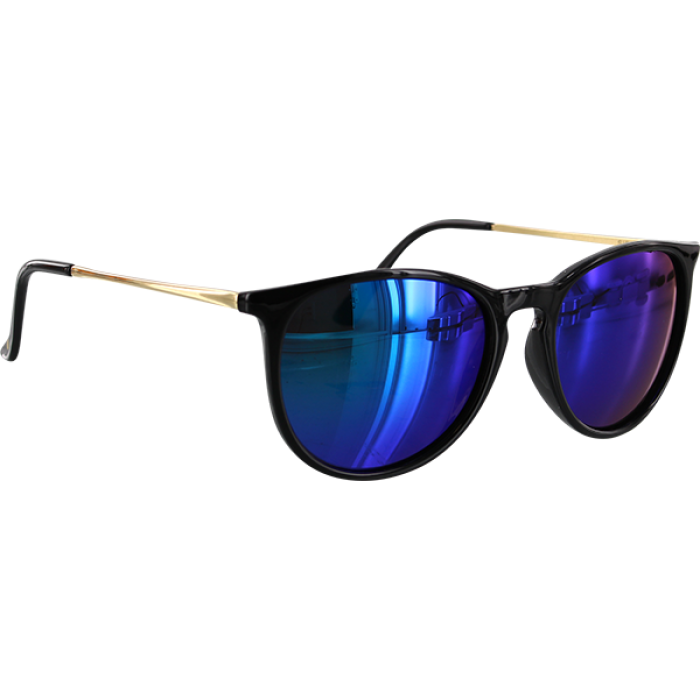 GLASSY SIERRA BLK/GOLD/BLU SUNGLASSES POLARIZED