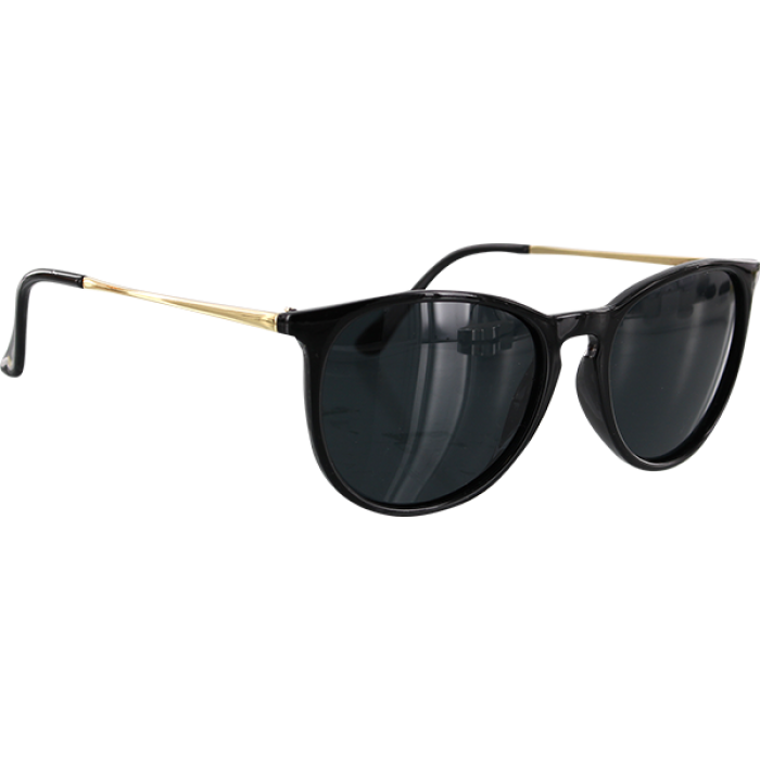 GLASSY SIERRA BLK/GOLD SUNGLASSES POLARIZED