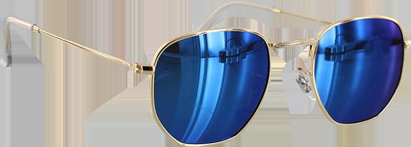 GLASSY TURNER GOLD/BLU MIRROR SUNGLASSES POLARIZED