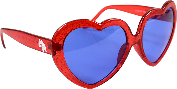 HAPPY HR HEART ONS RED SUNGLASSES