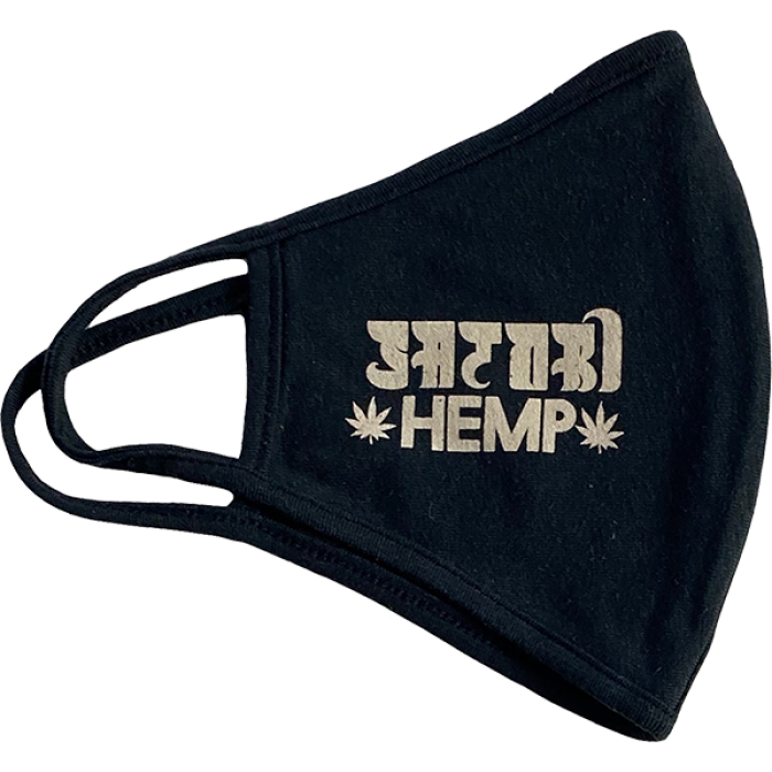 SATORI HEMP LOGO FACE MASK BLACK