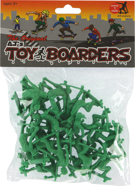 TOY BOARDERS SKATE SERIES I FIGURES GREEN 24pc