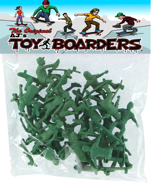 TOY BOARDERS SKATE SERIES II FIGURES GREEN 24pc