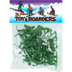 TOY BOARDERS SNOW SERIES I FIGURES GREEN 24pc