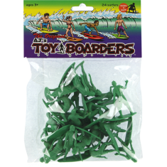TOY BOARDERS SURF SERIES I FIGURES GREEN 24pc