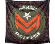 "MINI LOGO CHEVRON STAMP BANNER 36""x36"" BLK/ARMY"
