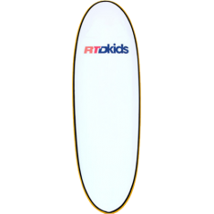 RTD MINI-GROM STUBBY SURFBOARD 5'6 WHT/YEL no fins